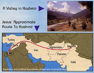 Viaggio di Jesù verso il Kashmir